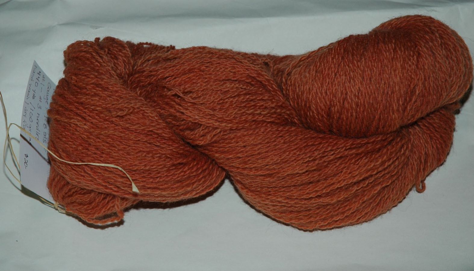 Naturally-dyed Sock Yarn, Madder Root2 - sheepsandpeeps