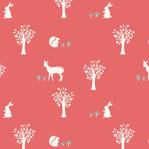 Birch Fabrics - STORYBOEK  Coral Field Friends  - 1/2 yard
