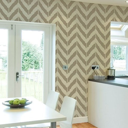 Ikat Zig-zag Stencil - reusable stencil patterns for walls just like wallpaper - DIY decor
