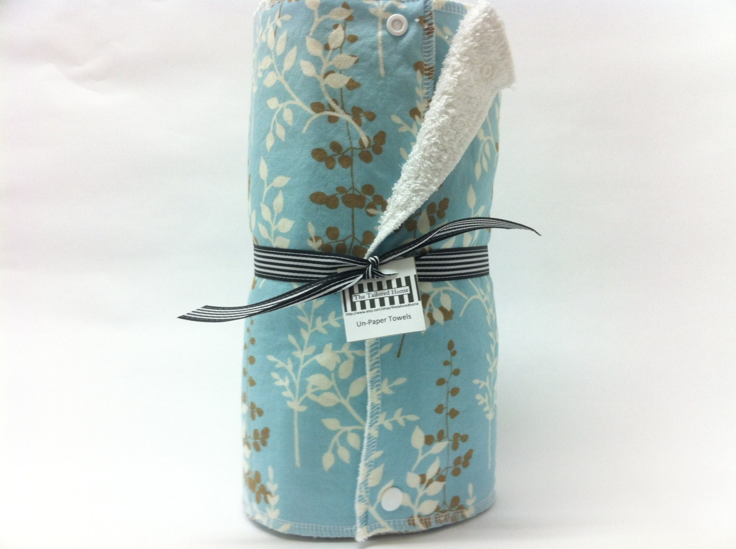 Reusable Paper Towel, Paper Towel, Cloth Paper Towel, Eco Friendly, Towels With Snaps - Enchanted Forest - TheTailoredHome