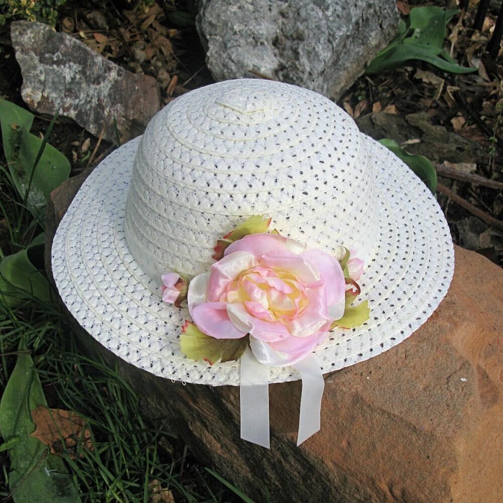 Spring Flower Easter Bonnet Girls Tea Party Hat