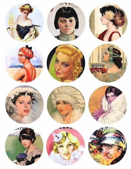 to 1940s clip art collage
