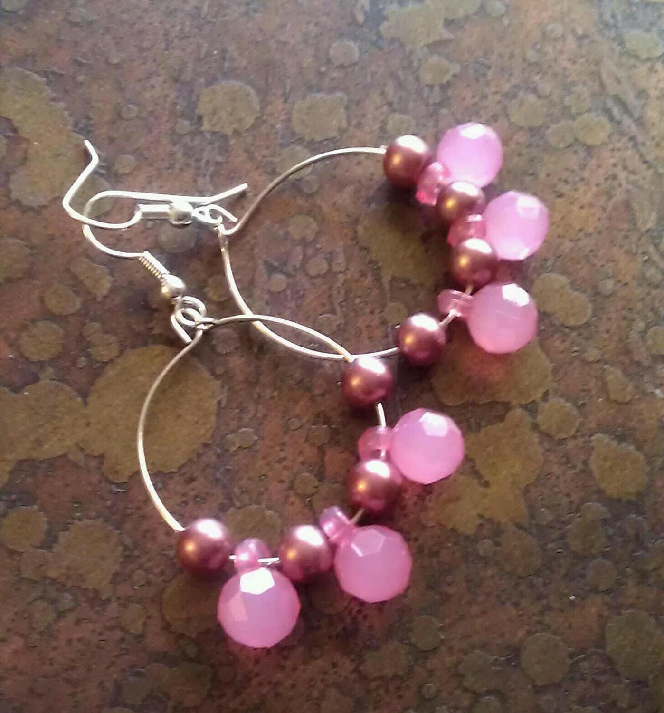 Sweet Something Pearls and Acrylic Beaded Dangle earrings
