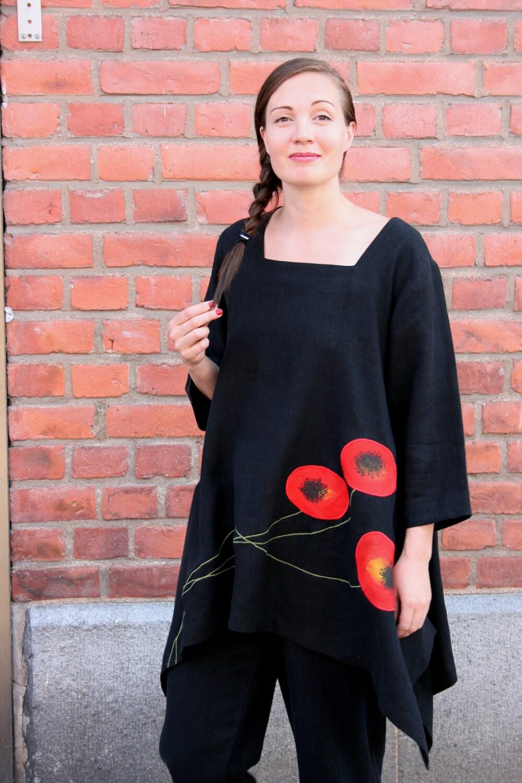 Poppy linen tunic