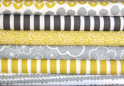 BELLA fat quarter bundle--6 pieces---1-1/2 yards total--Lotta Jansdotter for Windham Fabrics