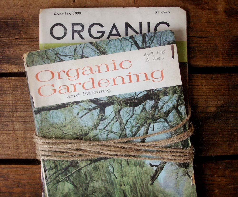 vintage organic gardening magazines, set of two, 1959 and 1960 - fieldandramble