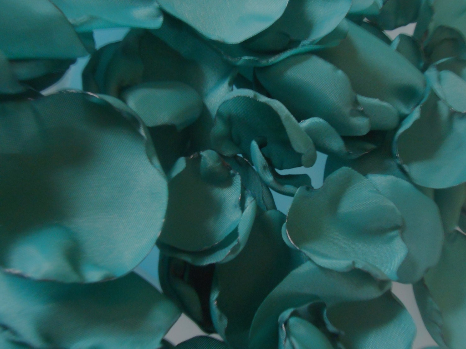 200 Dark Teal Wedding Fabric Flower Petals - mlmissal