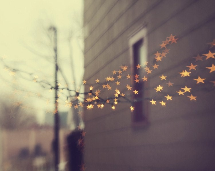 Nursery Photo - Autumn Photo, Halloween -  Stars For You - 5x7 metallic fine art photograph - ChelseaVictoria