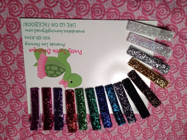 Glitter clippies set of 15