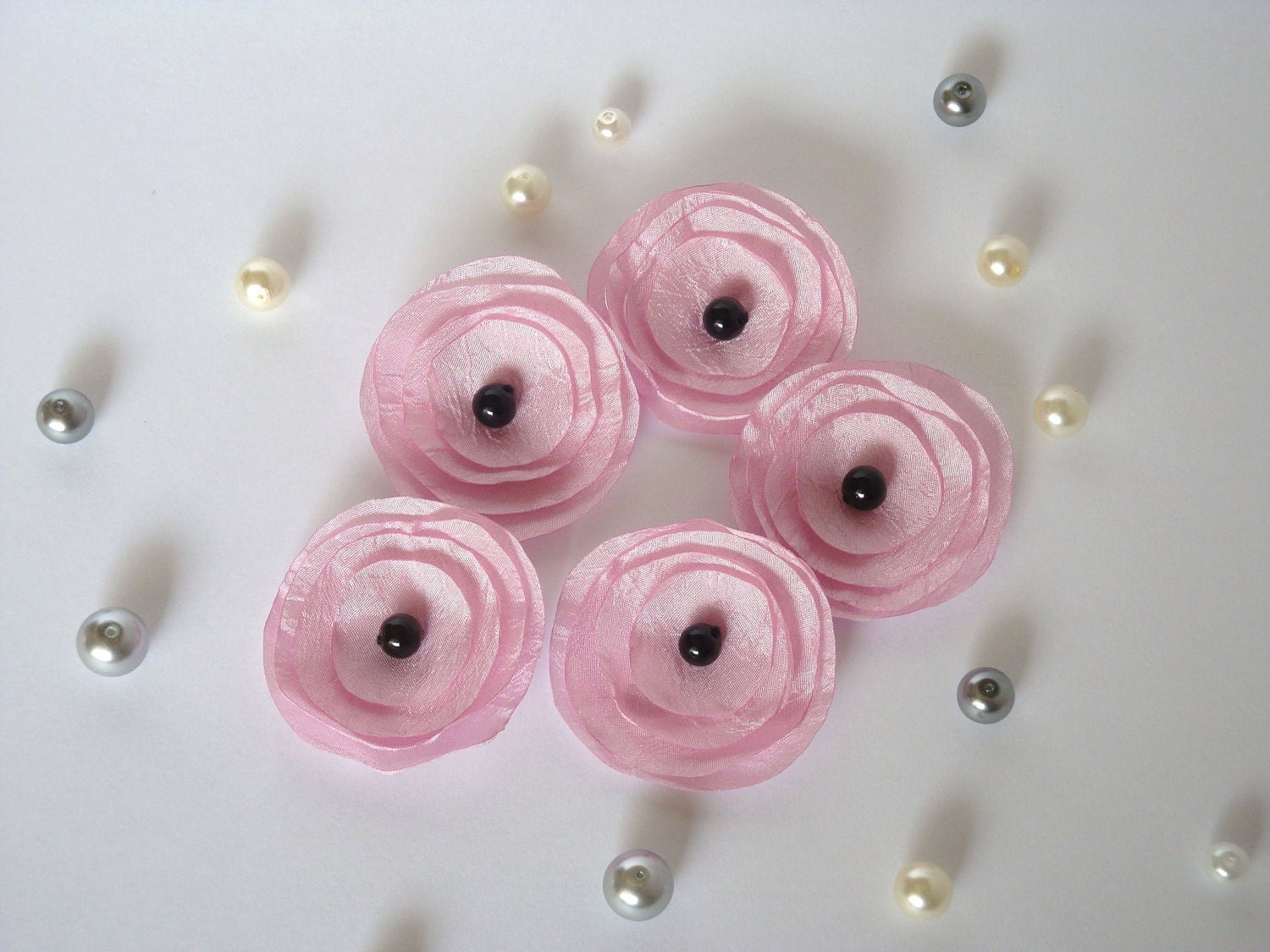 Pink  Poppies Embellishment