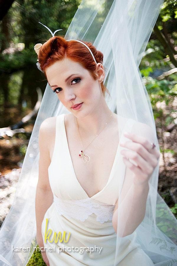 Vintage style Wedding Dress Eco Friendly Destination Wedding Organic Cotton