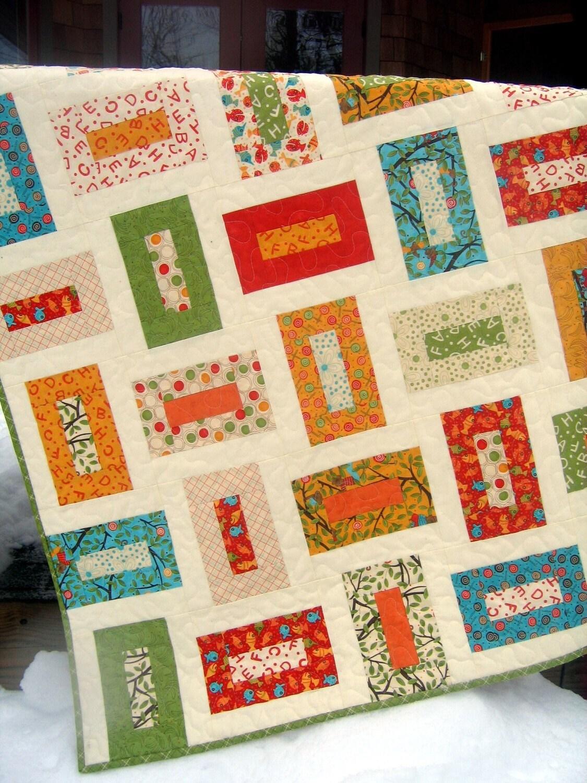 Moda's Lollipop Baby or Toddler Quilt ...pattern also