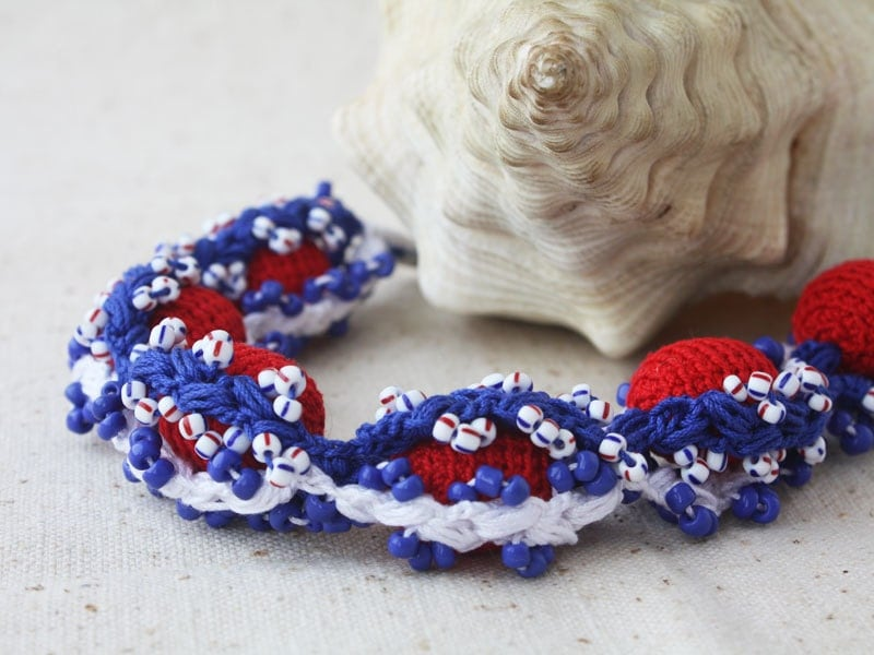blue and red nautical wedding