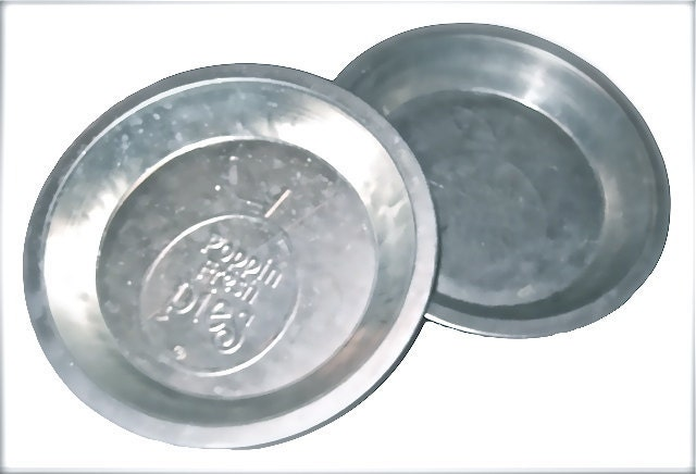 Vintage 1970s Poppin Fresh Pies Aluminum Pie Pans - Home Decor, Wall Decor, Kitchen Decor, or Bakeware