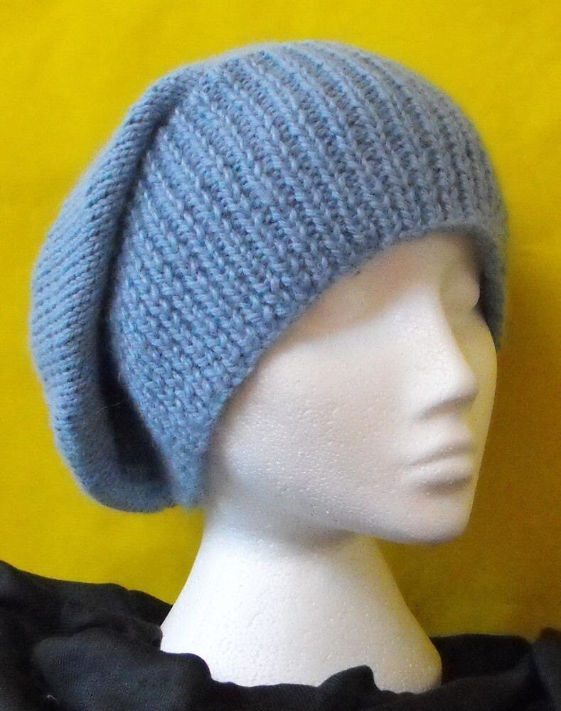 Knitted Beanie Patterns For Adults : Beanie Knit Pattern