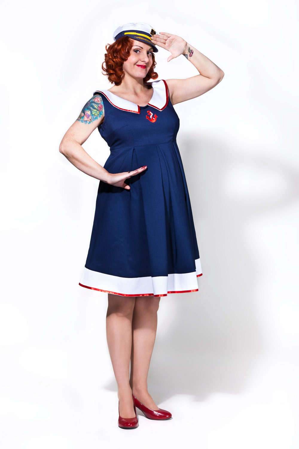 Rockabilly maternity dress / Sailor Mom