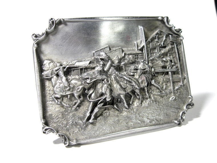 Vintage Belt Buckle, Pewter, Siskiyou Buckle Company, Limited Edition