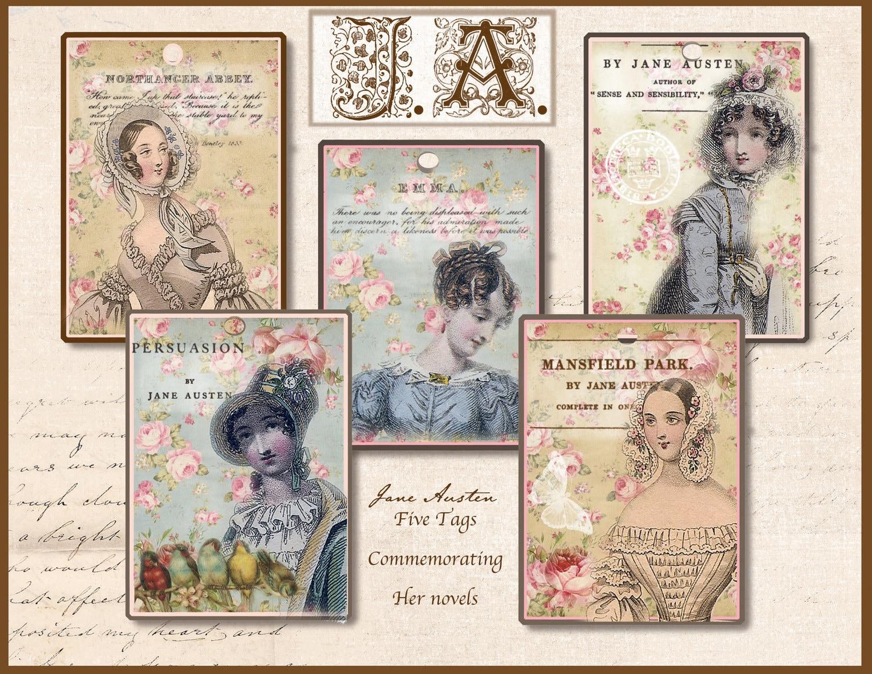 Jane Austen Tags Regency Jane Austen Gift Tags