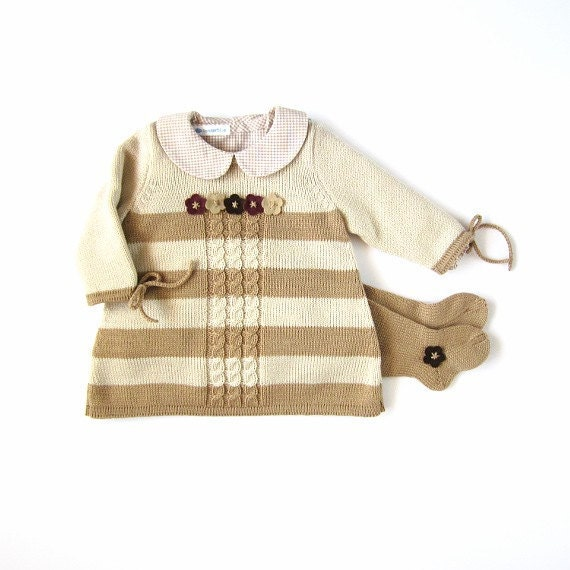 نوزاد کشباف با راه راه ، کابل و احساس گل برای دختر بچه