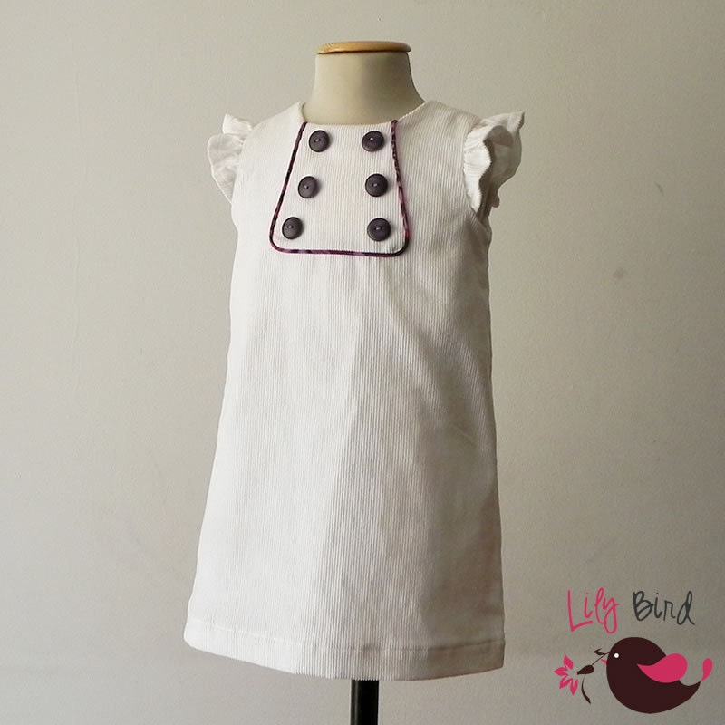 Kate's Dress - A-line dress - 2 yoke options - lined bodice - ruffled shoulders - 12 months to 8 years - pdf Pattern and Instructions