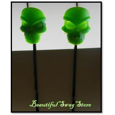 Rock Green Skull Hair Pin