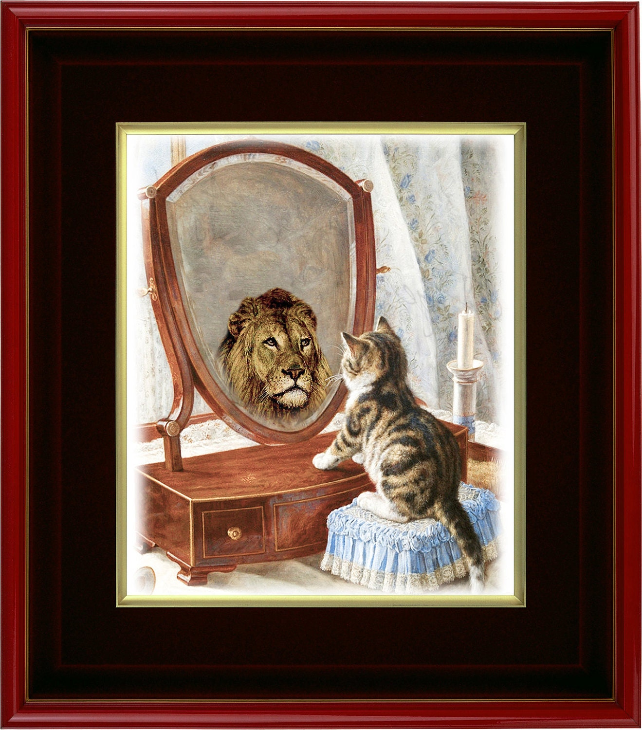 "Art Print - Who's The Fiercest Of Them All - 8"" x 10"" - Original Art Giclee Wall Art"