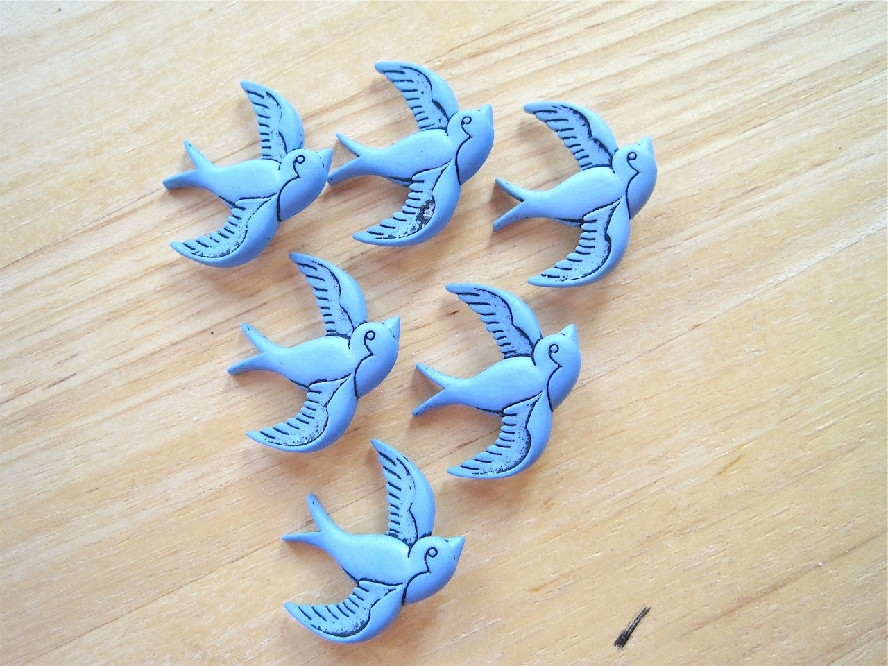 Blue Bird Novelty Craft Embellishment Buttons