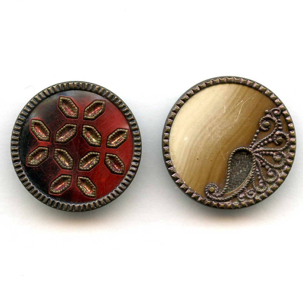 Victorian Celluloid Buttons