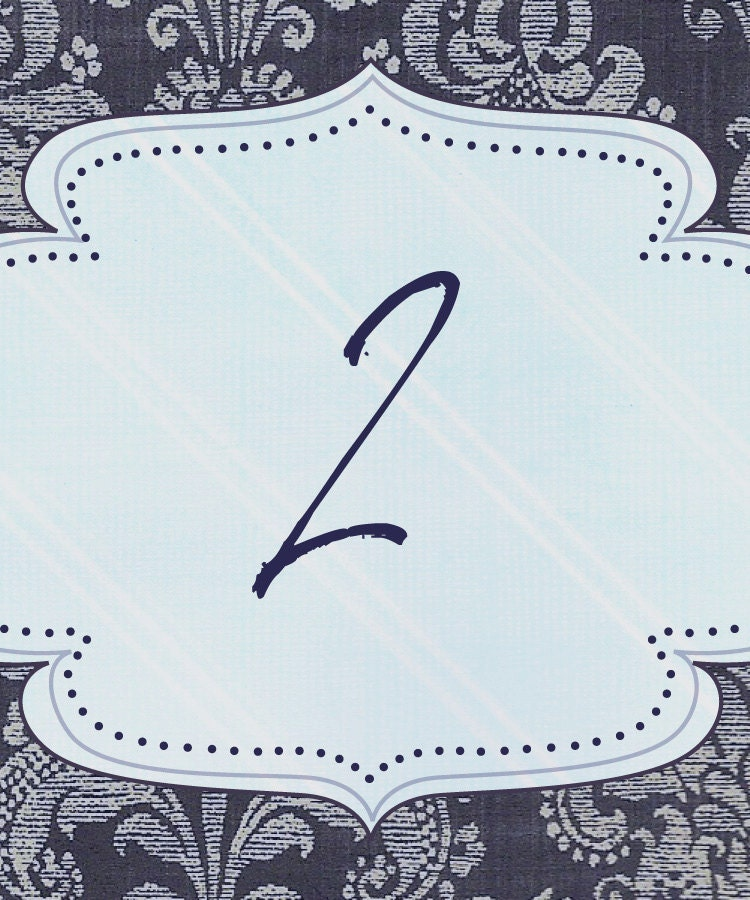 Bountifully Blue Wedding Table Number From allisoneyoungblood