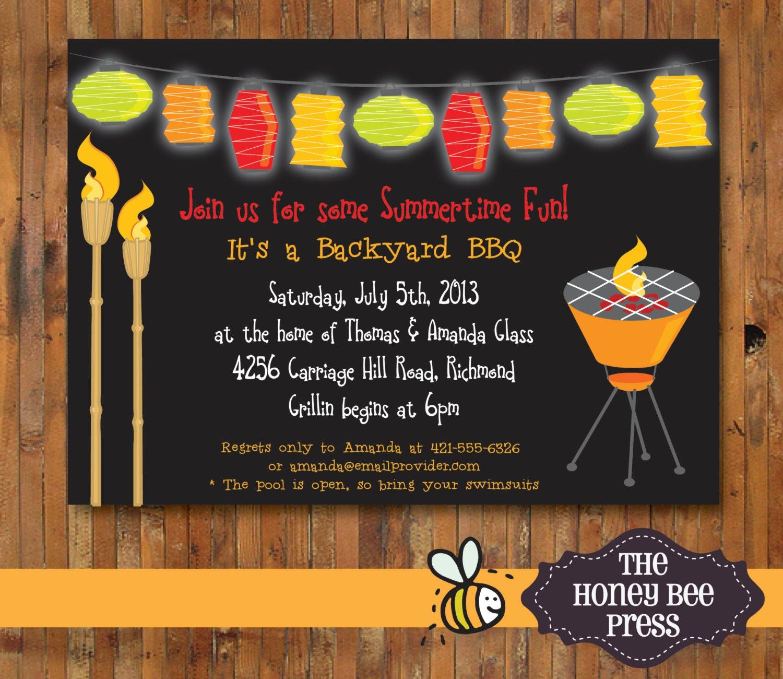 Backyard BBQ Invitation - Item 0123