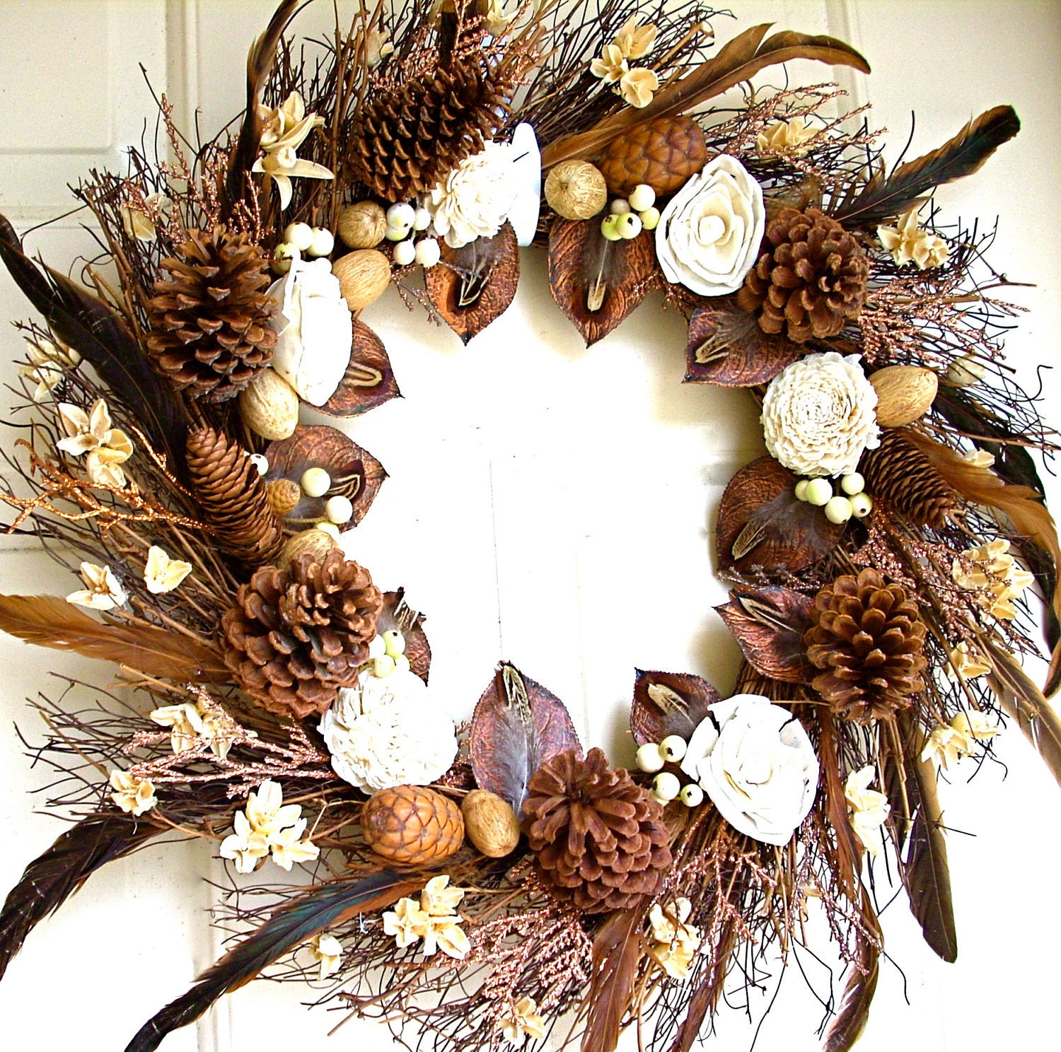 Vanilla and Chocolate Wreath