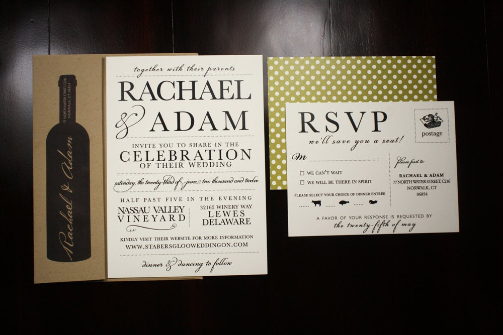 miranda logan rustic kraft wedding invitations ajcreative - Winery Wedding Invitations