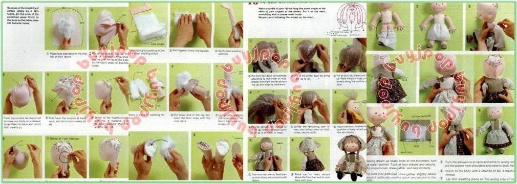 Japanese Craft Pattern Book Fabric Stuffed Doll by Kyoko Yoneyama ENGLISH Version Out-Of-Print