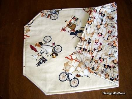 Placemats, Chefs And More Chefs, Reversible and Quilted