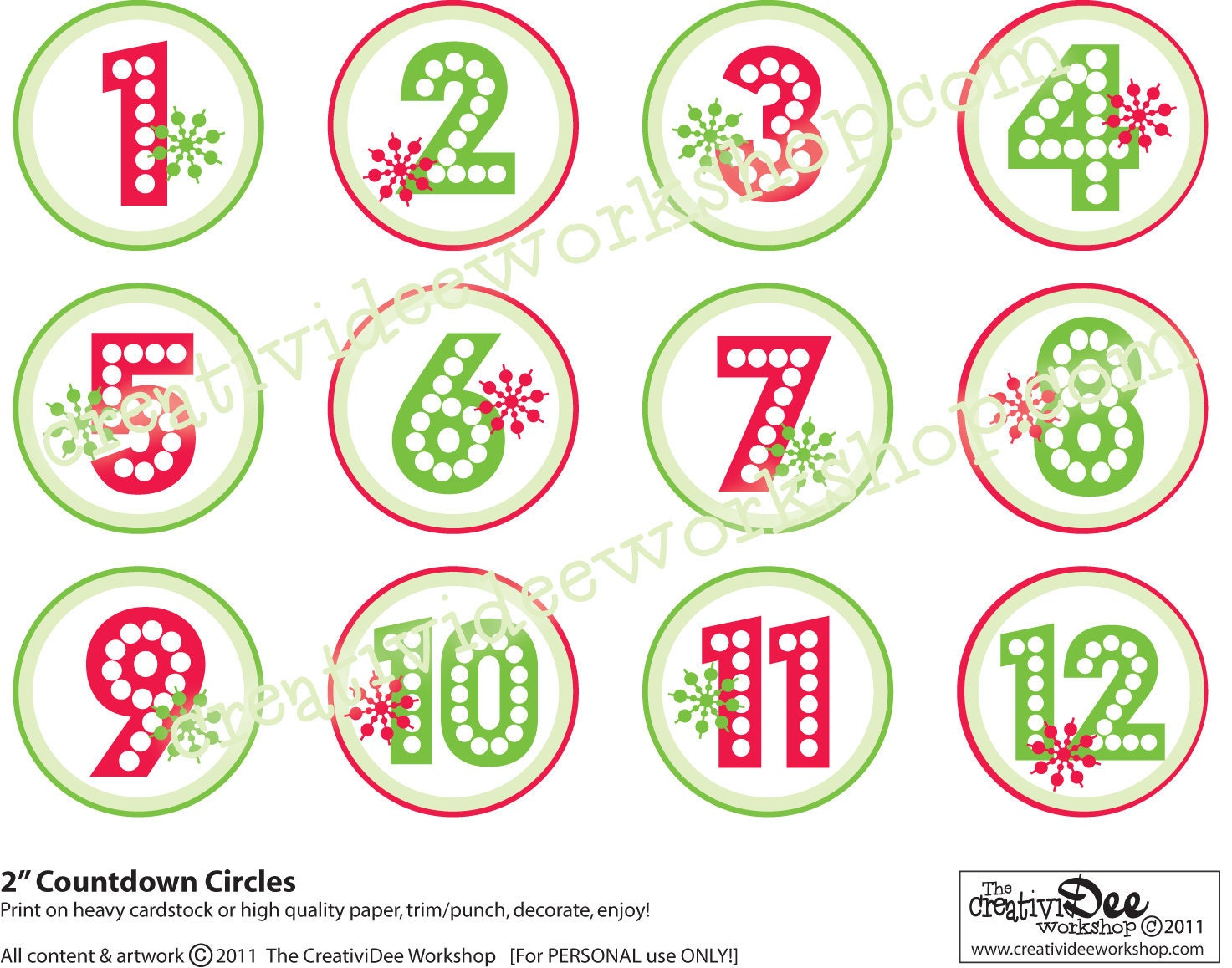 tags or print the activity Christmas Numbers Printable