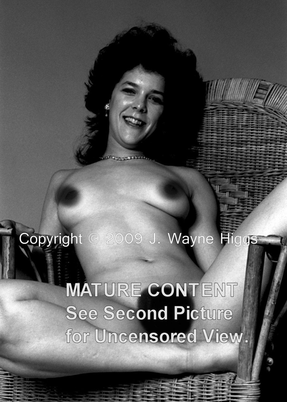 1977 Vintage Female Nude Black