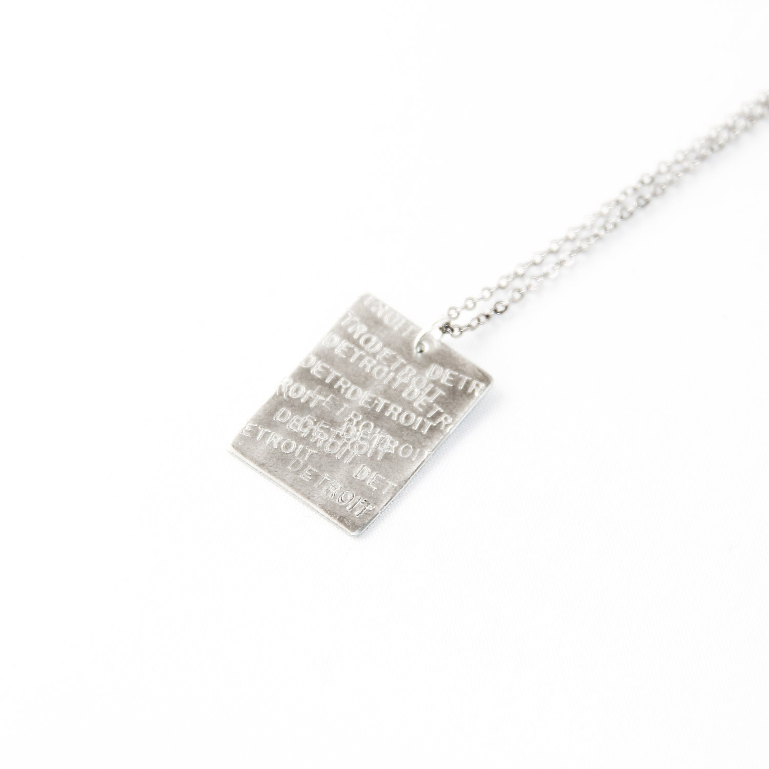 DETROIT Stamped Unisex Necklace Made In Michigan