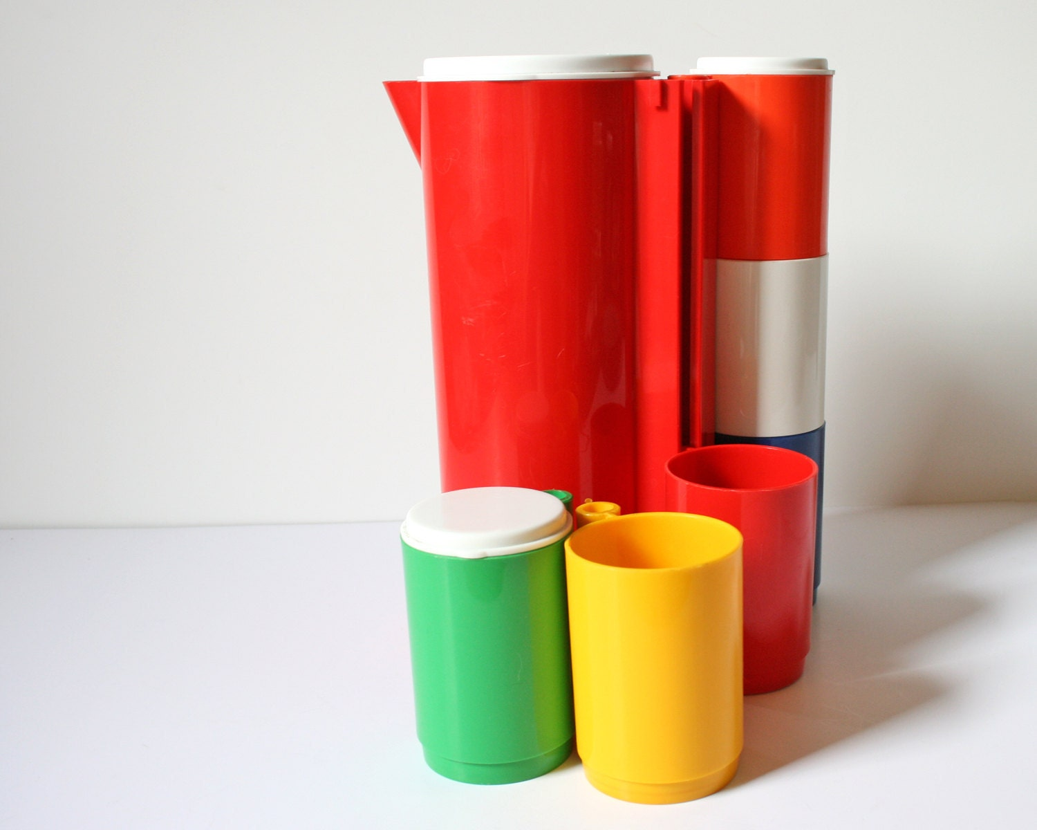 40% OFF Picnic Pitcher and Cup Set // Ingrid Chicago // Primary Colors - UltramarineVintage