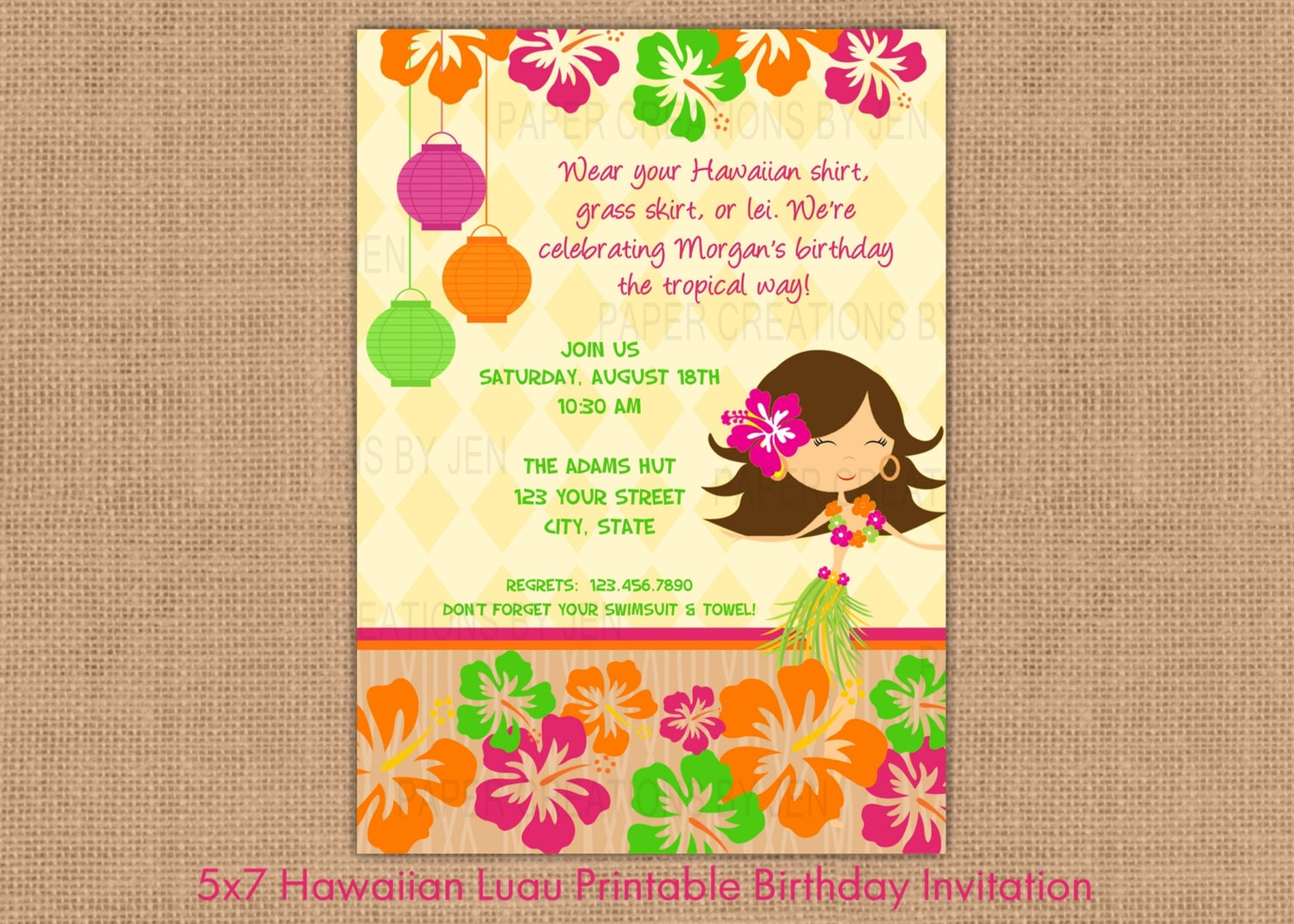 78 Best images about Hawaiian party – Hawaiian Theme Party Invitations
