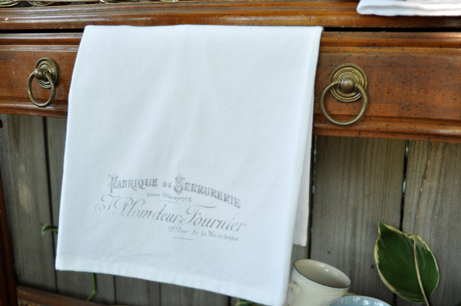 French inspired tea towel- Fenetre