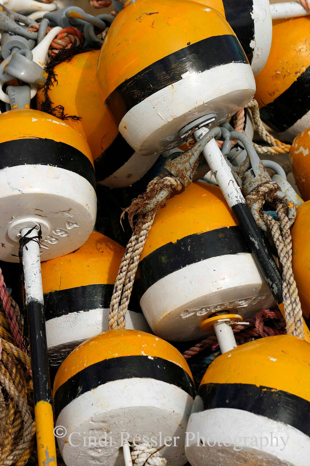 Buoys, 5x7 Fine Art Photography, Nautical Photography, Abstract Photography - CindiRessler