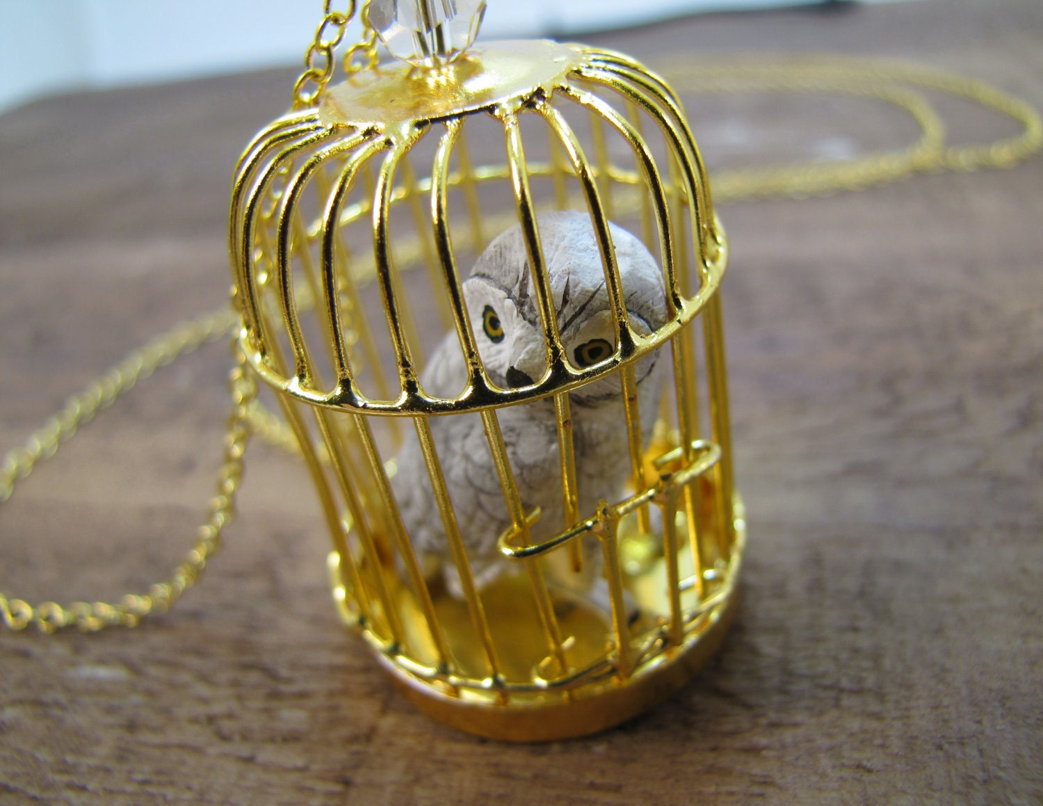 Hedwig Owl Harry Potter Inspired Snowy Owl Necklace