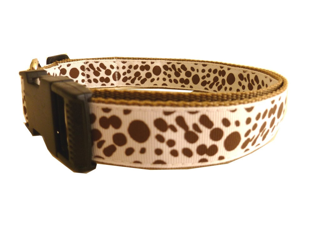 S A L E - Dog Collar & Leash - Polka Dots - thedoggiehouse