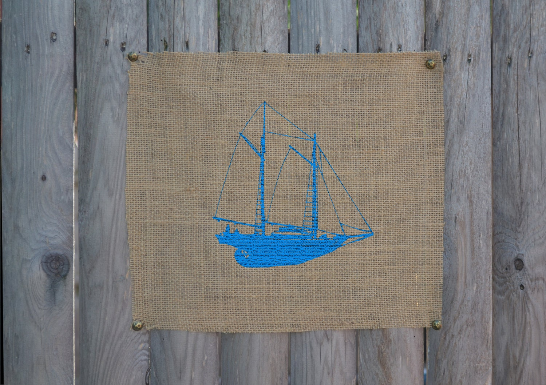 Nautical Wall Art Schooner Wall Decor Sailboat by fiberandwater
