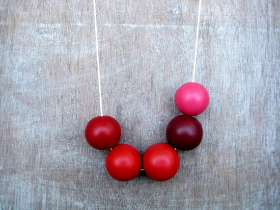 Bright Handmade round beads Necklace - JullMade