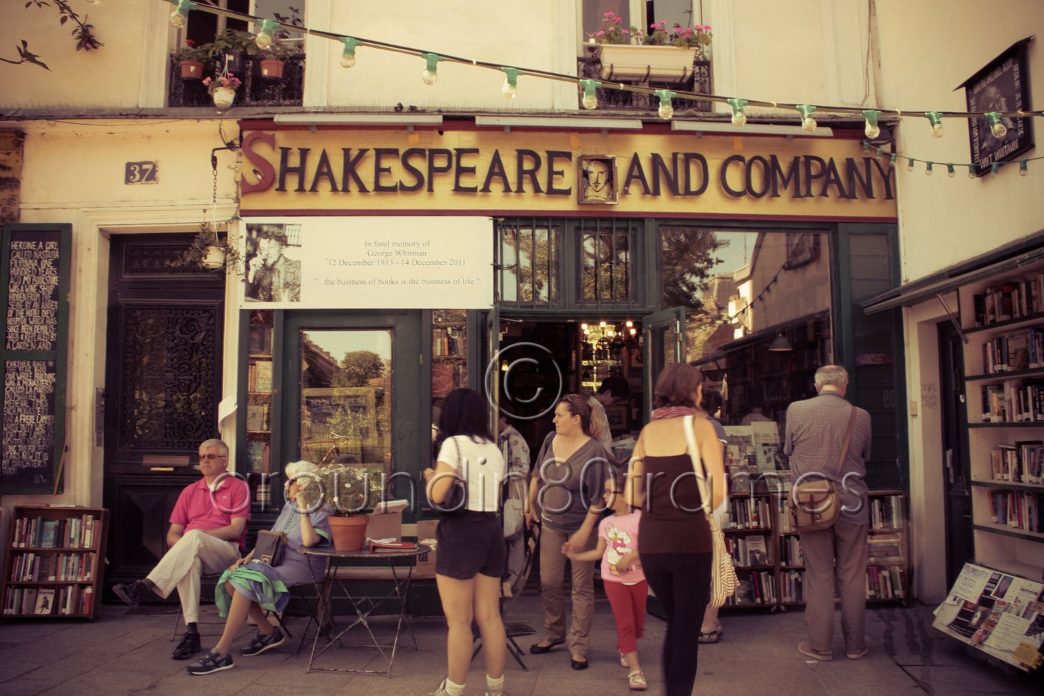 Shakespeare and Company, Paris, France 8x10 Print- Travel Photography