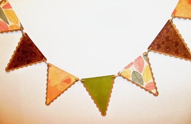 AUTUMN BANNER/ fall banner garland/ harvest decor/ fall wedding garland/ penant bunting - BethsBannerBoutique