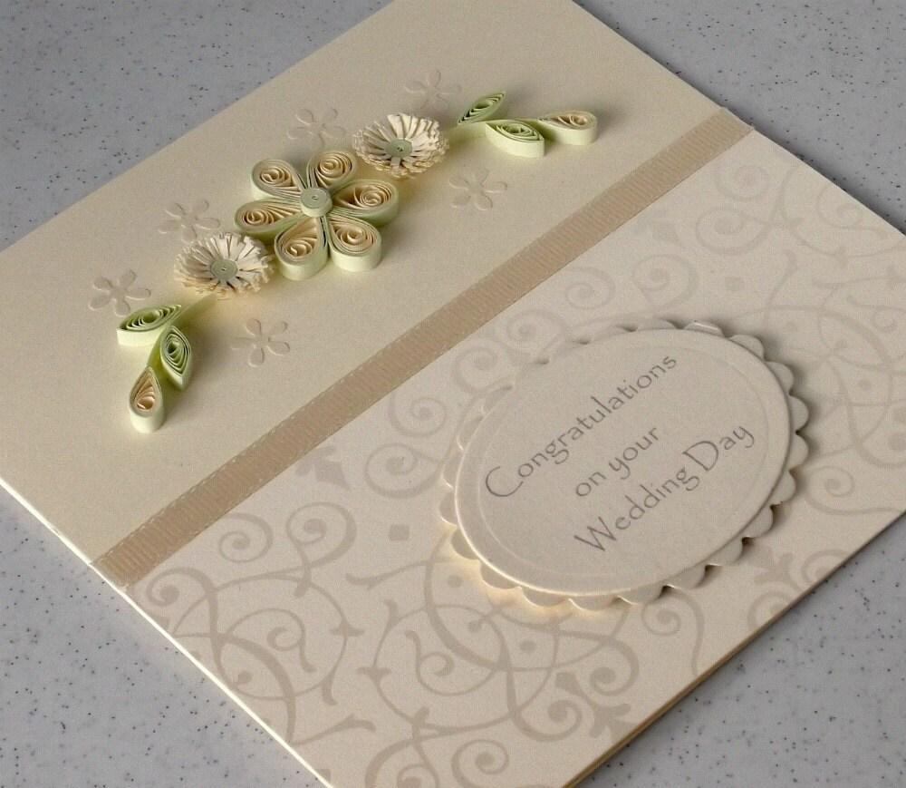 Гофрированный свадьбы поздравления карты, бумага рюш