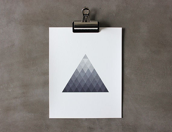 Triangle Grade 8 x 10 Art Print - thinkandinkstudio