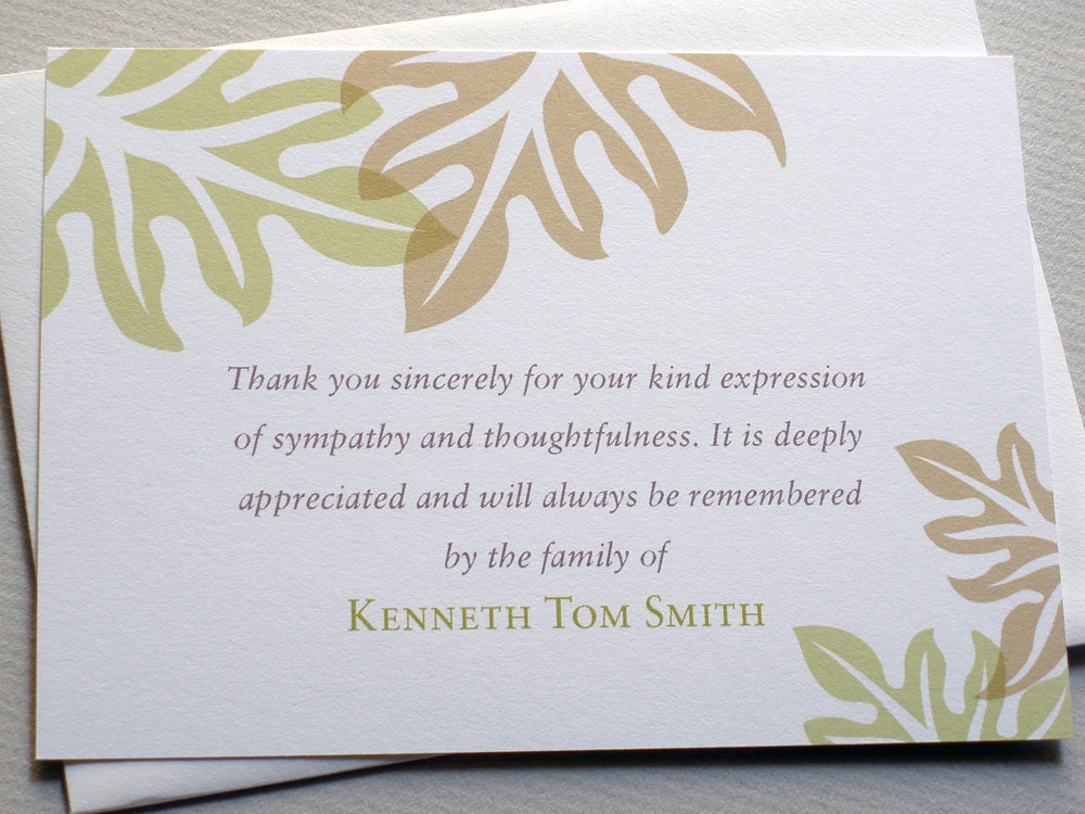 """how to write a thank you note after a funeral And it only takes a moment to write """"thank you for your beautiful flowers"""" or """"thank you for your note given to you by the funeral."""